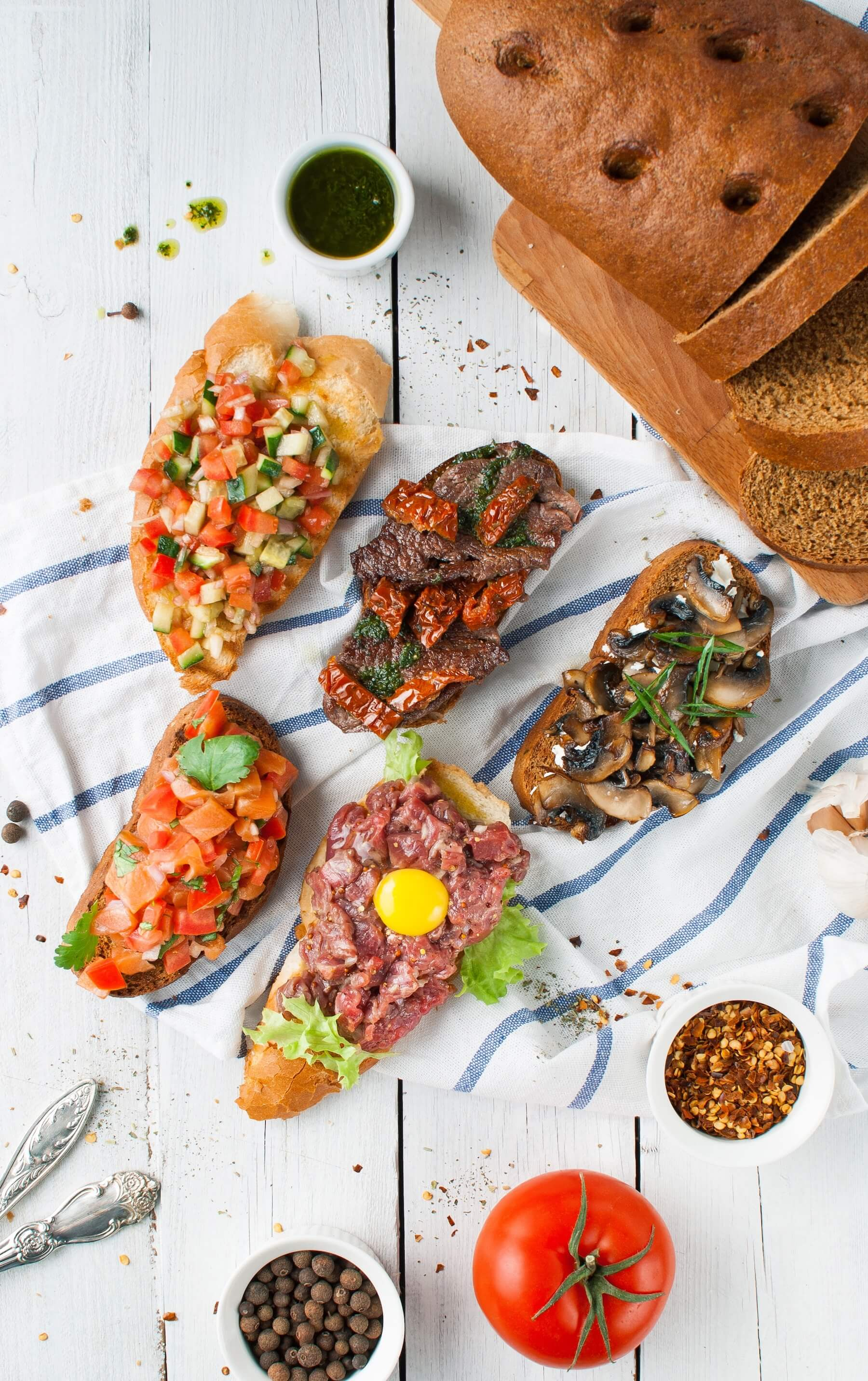 Bruschetta with Beef Tartare