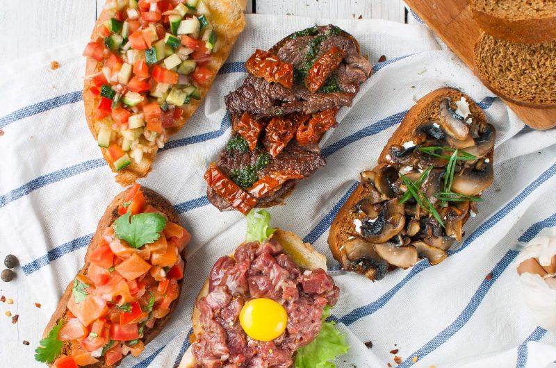 Bruschetta with Beef Tartare