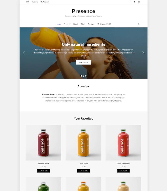 Presence Organic Shop